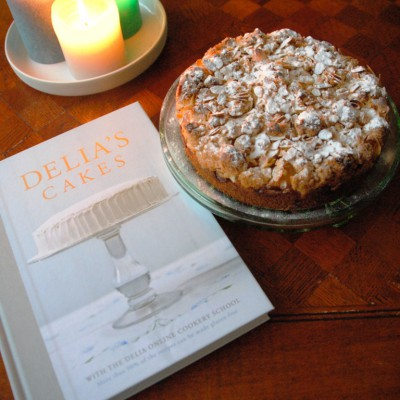 Almond pear tart - boek Delia foto margot